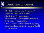 identification of authority