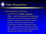 other regulations