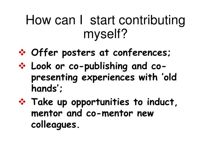 How can I  start contributing myself?
