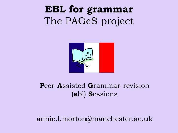 ebl for grammar the pages project n.