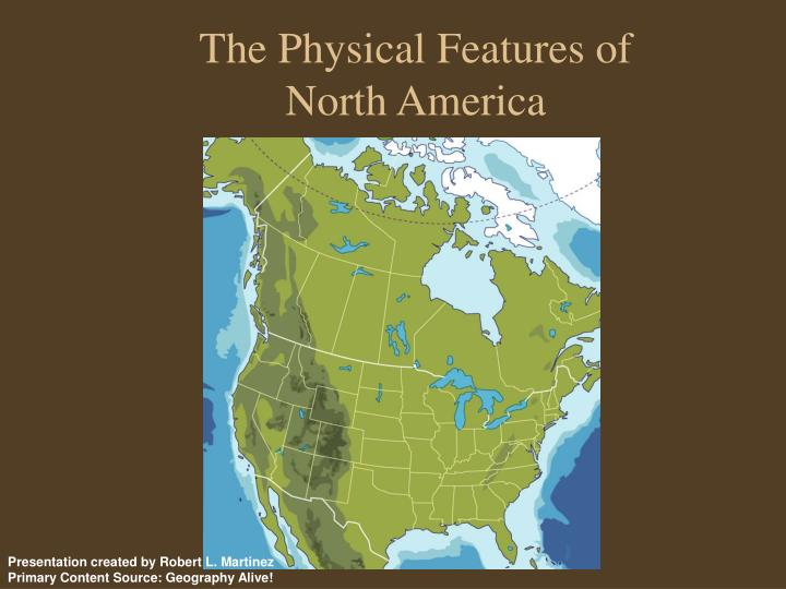 The physical features of north america