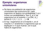ejemplo organismos unicelulares
