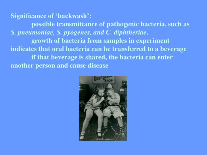 Significance of 'backwash':