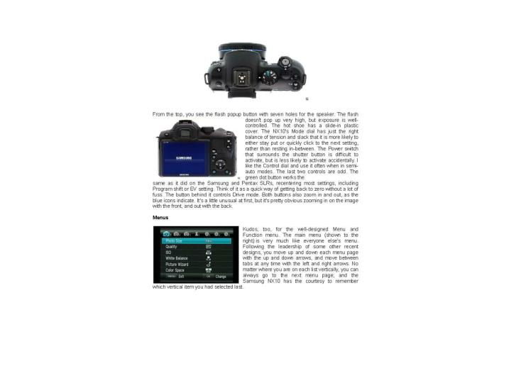 Samsung nx10 user report