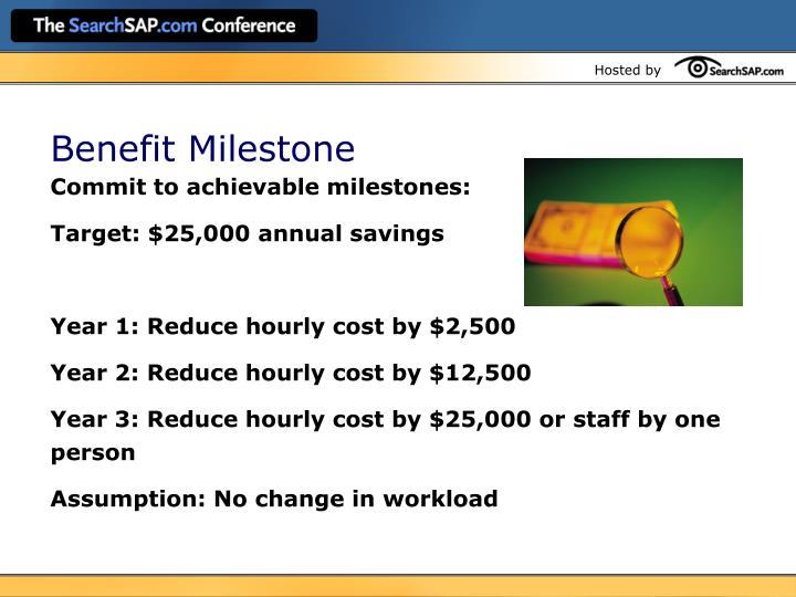 Benefit Milestone
