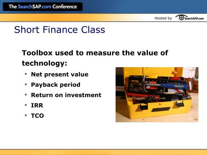 Short Finance Class