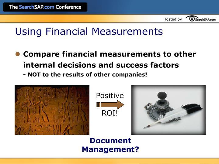 Using Financial Measurements