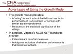 advantages of using the growth model