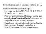 c mo formalizar el lenguaje natural en l 010