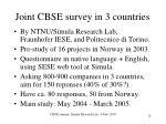 joint cbse survey in 3 countries