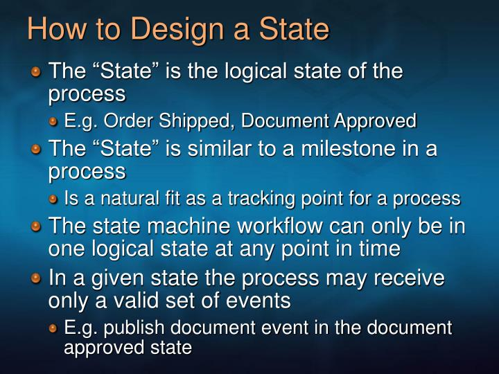 How to Design a State