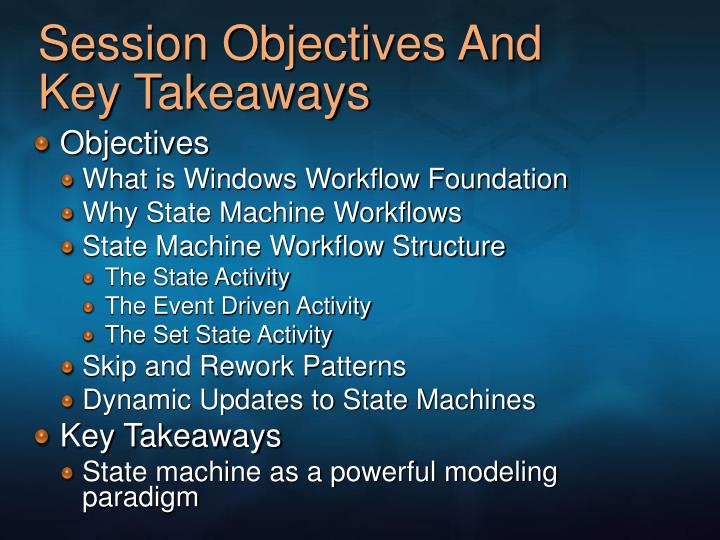 Session objectives and key takeaways