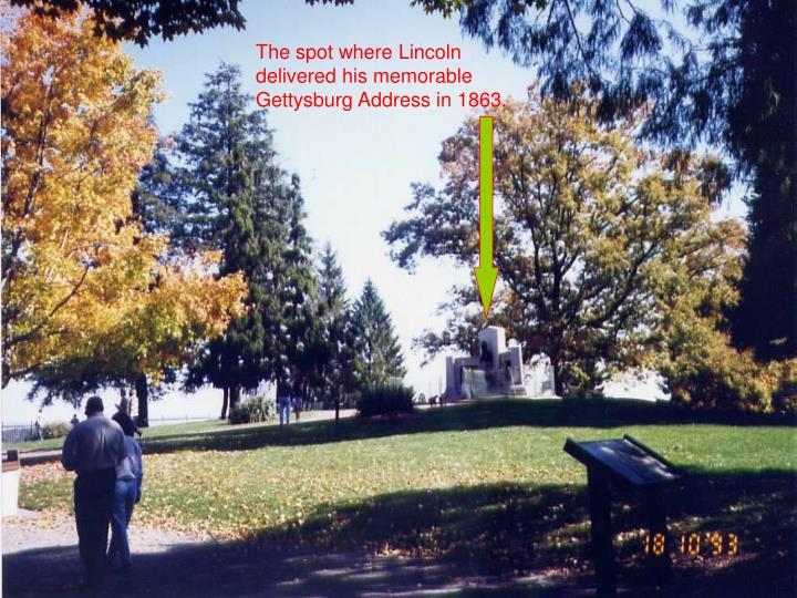 The spot where Lincoln