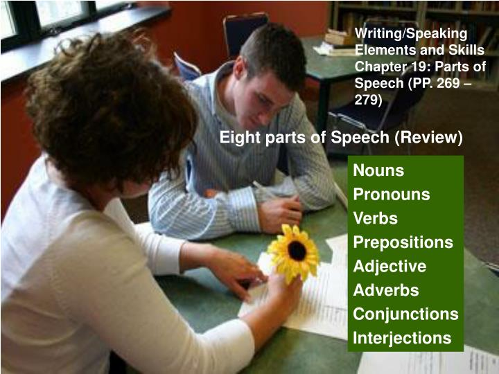 Writing/Speaking Elements and Skills
