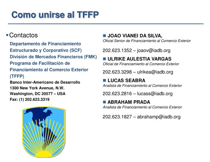 Departamento de Financiamiento Estructurado y Corporativo (SCF)