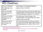 mps deadlines