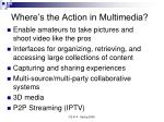 where s the action in multimedia