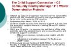 the child support connection cs community healthy marriage 1115 waiver demonstration projects