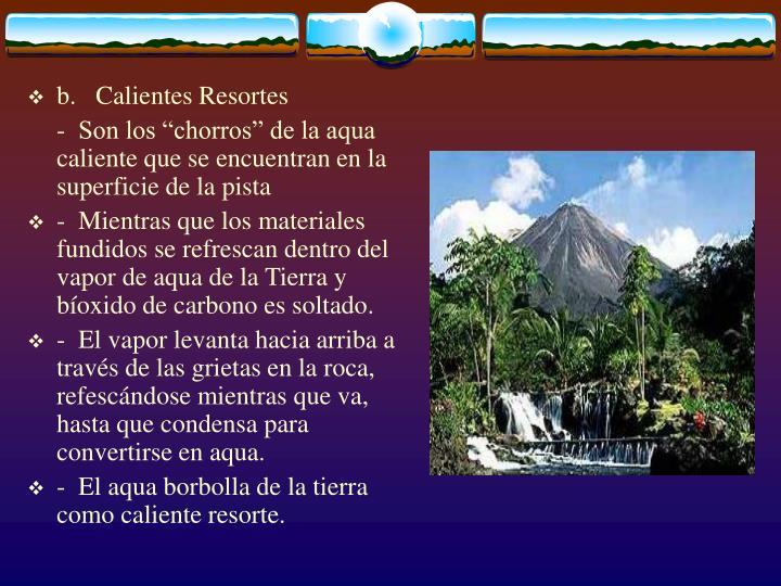 b. Calientes Resortes