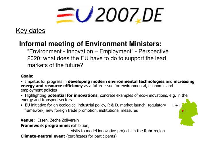 Informal meeting of Environment Ministers: