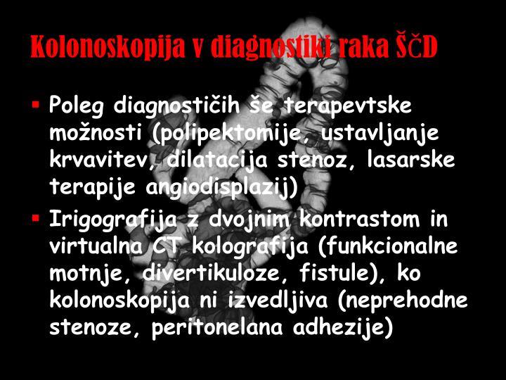 Kolonoskopija v diagnostiki raka ŠČD