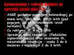 kolonoskopija v vodenju bolnikov po operaciji zaradi raka d