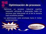 optimizaci n de procesos