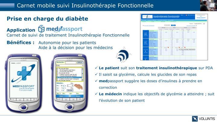 Carnet mobile suivi Insulinothérapie Fonctionnelle