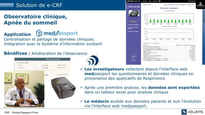 Solution de e-CRF