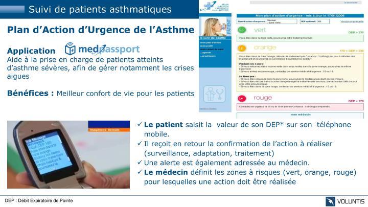 Suivi de patients asthmatiques