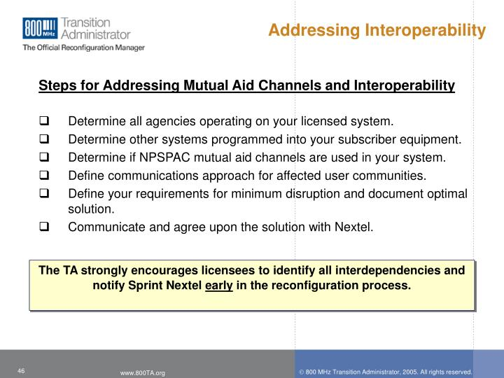Addressing Interoperability