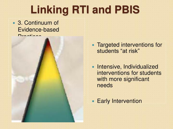 3. Continuum of Evidence-based Practices