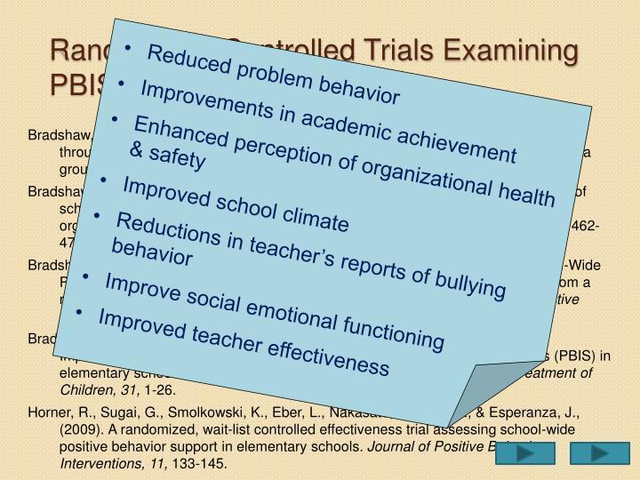 Randomized Controlled Trials Examining PBIS