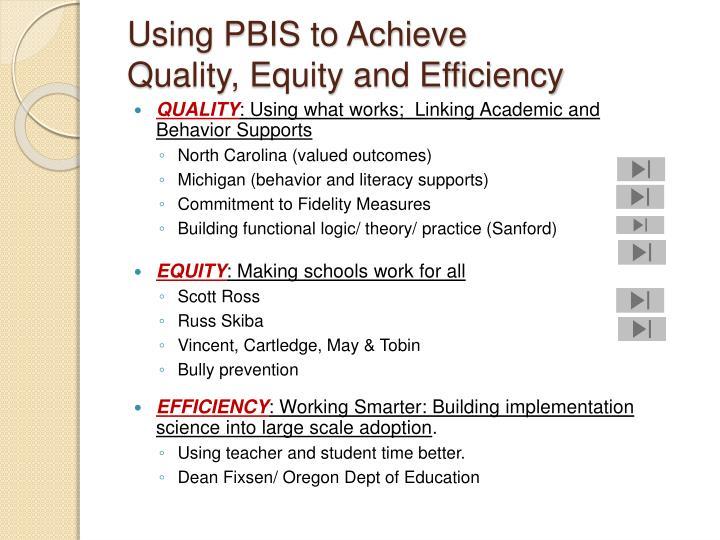 Using PBIS to Achieve