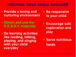 helping your child succeed