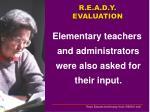 r e a d y evaluation1