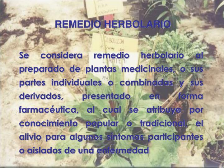 REMEDIO HERBOLARIO