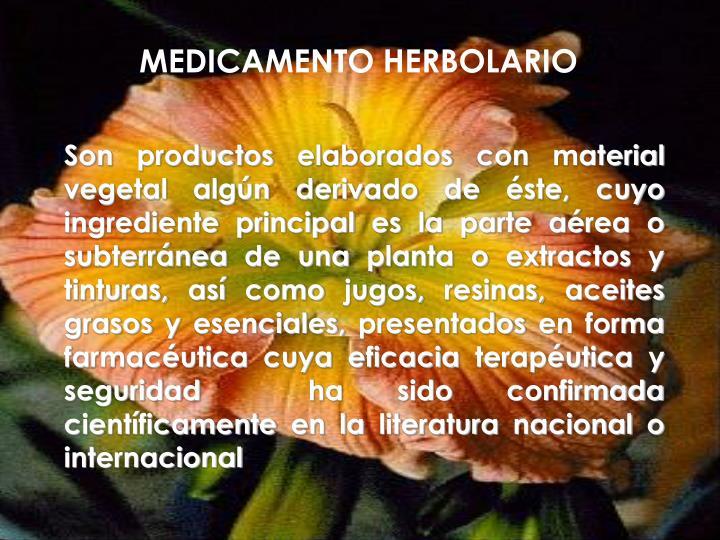 MEDICAMENTO HERBOLARIO
