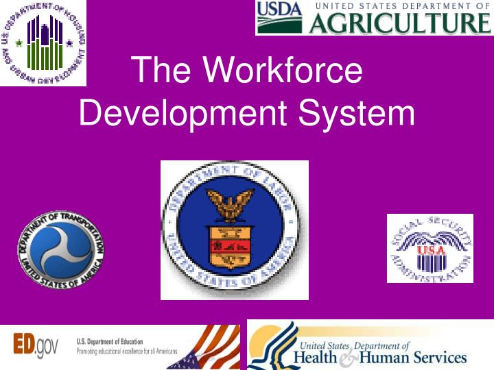 The workforce development system