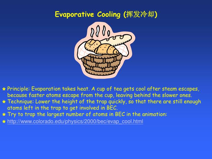 Evaporative Cooling (