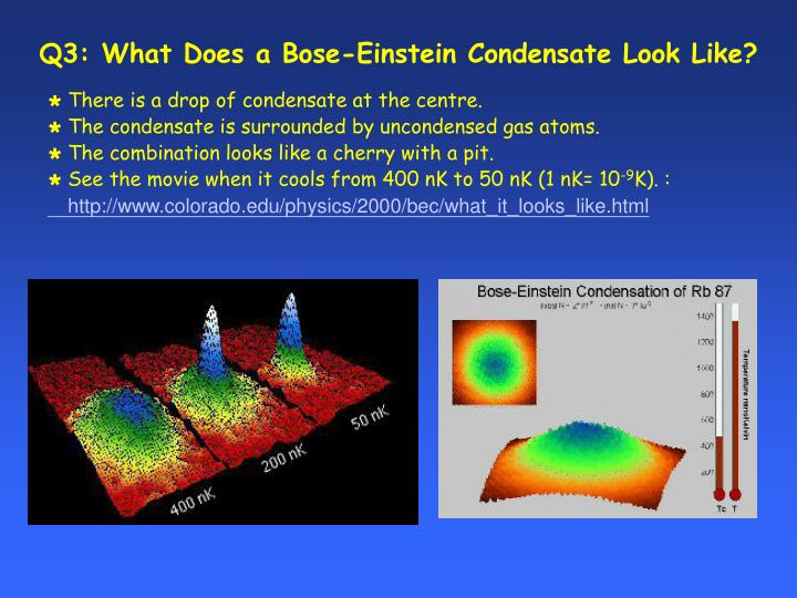 Q3: What Does a Bose-Einstein Condensate Look Like?
