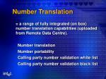 number translation