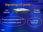 signaling i o ports