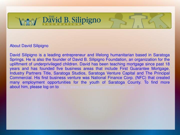 AboutDavid Silipigno