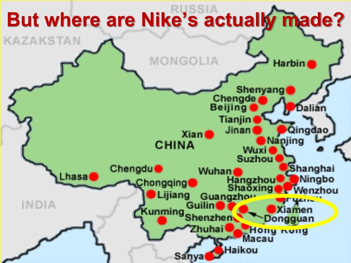 But where are Nike's actually made?