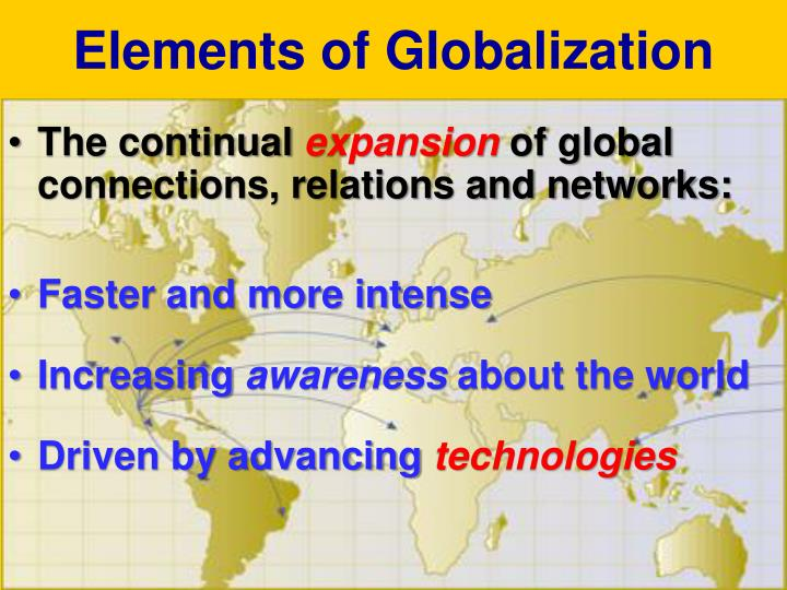 Elements of Globalization