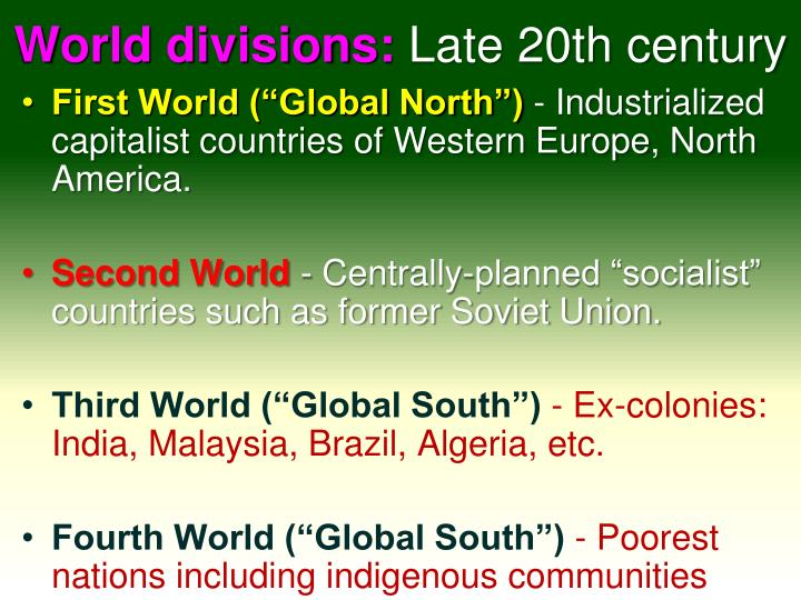 World divisions: