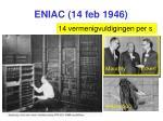 eniac 14 feb 1946