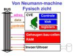 von neumann machine fysisch zicht