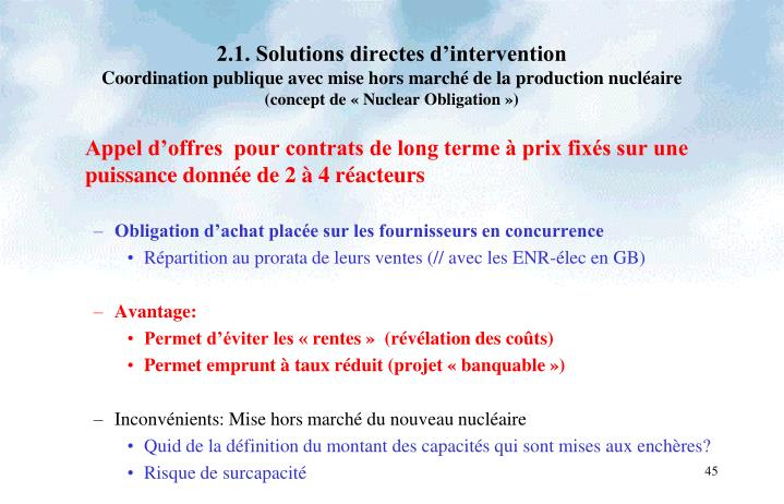 2.1. Solutions directes d'intervention